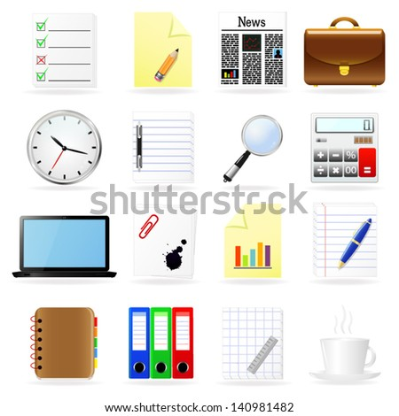 Business and office icons set.