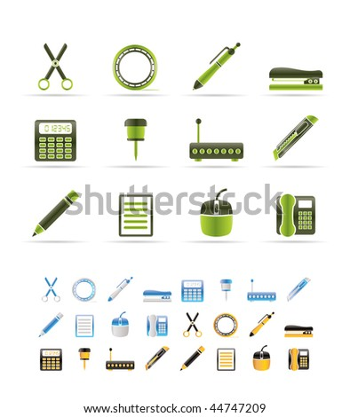 Business and Office icons - vector icon set - 3 colors included