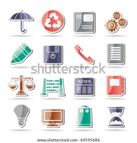 Business and Office internet Icons - Vector icon Set - stock vector