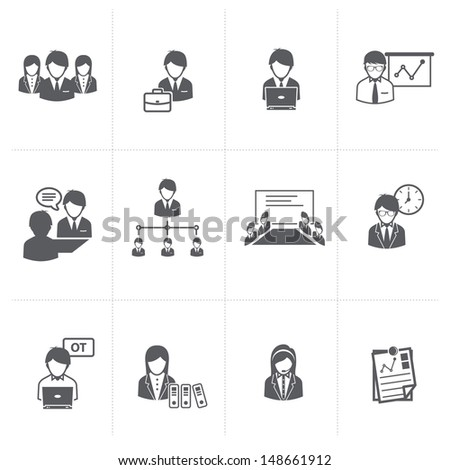 Business and Office people Icons set.