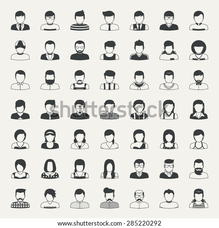 Business and people icons  , eps10 vector format - stock vector