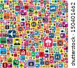 Business and social media icons infographics wallpaper - stock vector