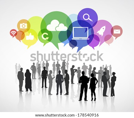 Business and Social Networking Vector - stock vector