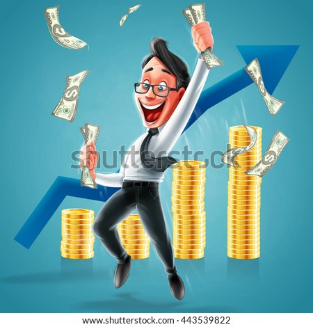 business and success - stock vector