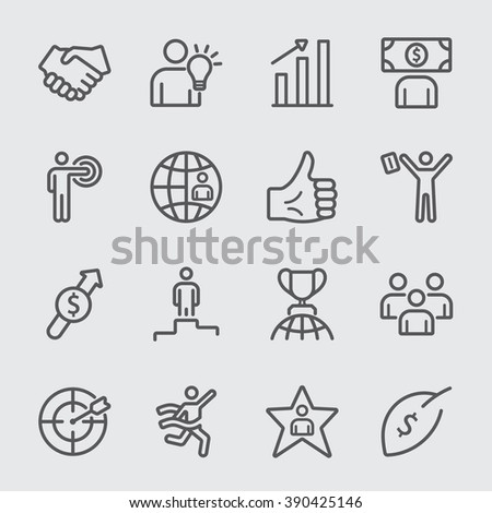 Business and Success line icon - stock vector
