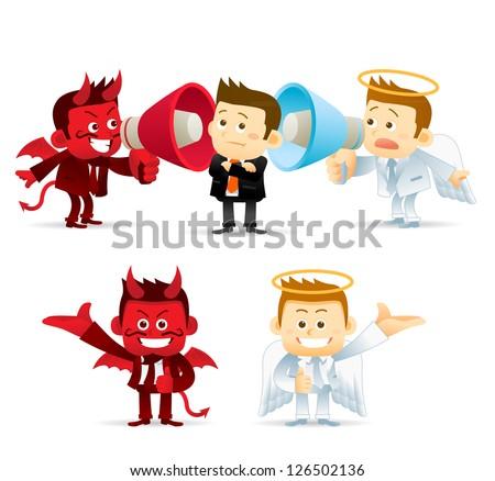 Business Angel & Devil - stock vector