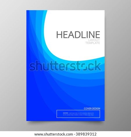 Vector Blue Brochure Annual Report Flyer Vector 314567258 – Business Annual Report Template