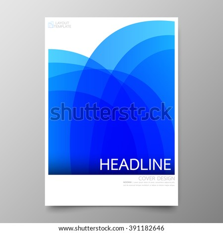 Business annual report cover template design.Geometric curve abstract background.Layout in A4 size