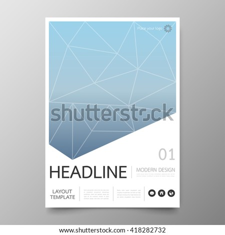 Business annual report cover template design geometric stock vector business annual report cover template designometric triangle abstract backgroundyout in a4 size accmission Image collections
