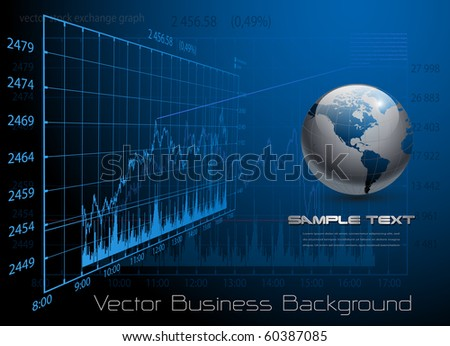 business background blue, vector. - stock vector