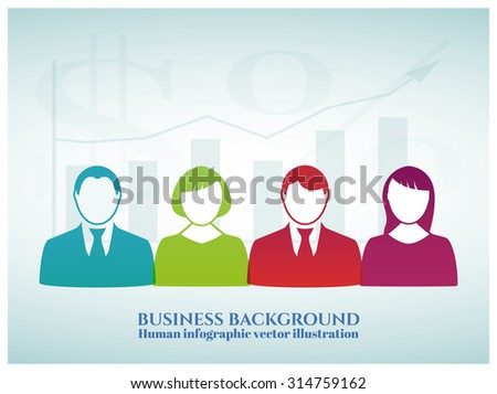 Business background - can be used to illustrate time management, the distribution of career, task organization or planning a meeting or teambuilding and pattern your design - stock vector