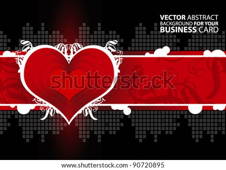Business background for your business card - stock vector