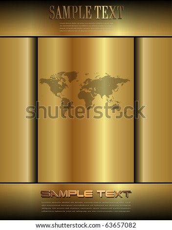 Business background gold, vector.