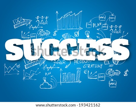 Business background. Success concept - stock vector