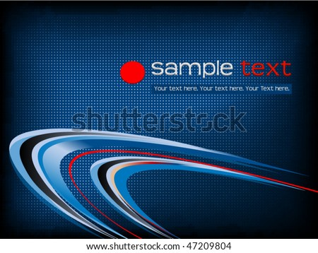 Business background with blue swooshes - stock vector