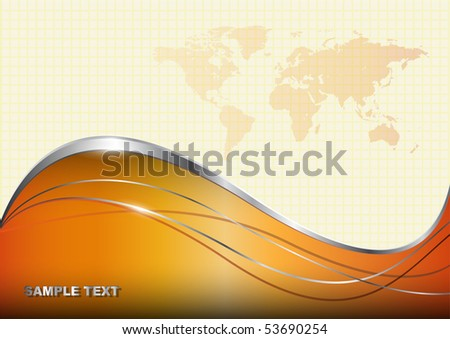 Business background with world map. - stock vector