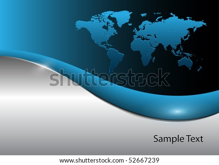 Business background with world map, EPS10 vector - stock vector