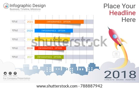 Business Bar Graph Infographics Template Growth Stock-Vektorgrafik ...