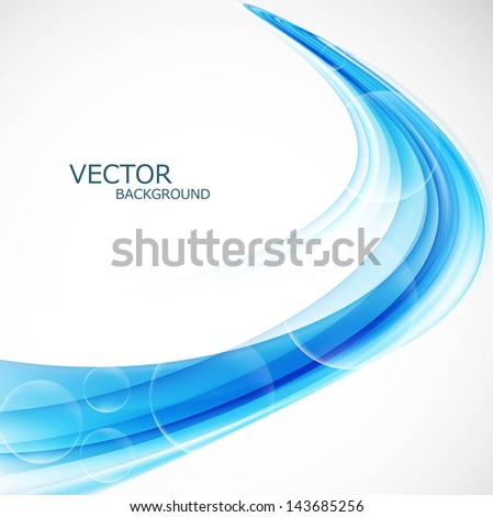 Business blue creative colorful  wave vector design - stock vector