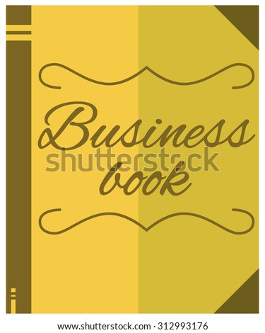 Business book flat icon. Flat design style modern vector illustration. Vector illustration - stock vector