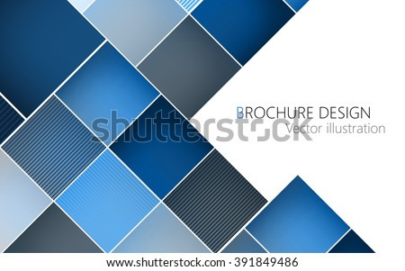 Business brochure cover design template. Blue background Vector. Clip-art