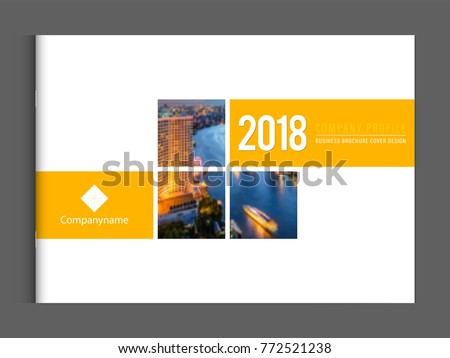 Brochure Booklet Cover Design Template Vector