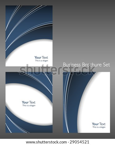 Business Brochure cover set - stock vector