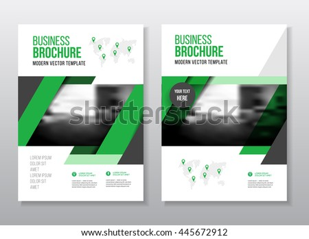 Abstract Business Brochure Design Vector Template Stock Vector
