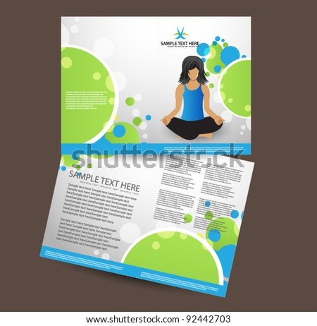 business brochure design easy to edit.vector - stock vector