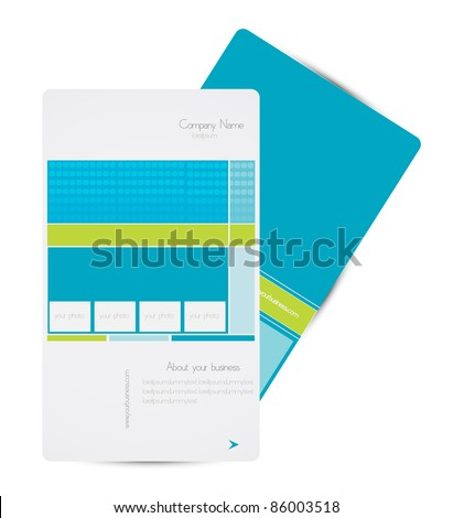 business brochure design with photo frame vector - stock vector