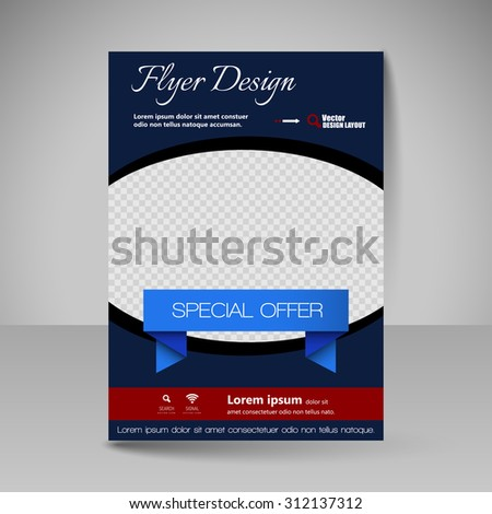 Business brochure. Editable A4 poster for design cover of magazine, education, presentation, website. Flyer template. - stock vector