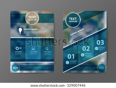 Business brochure flyer design layout template in A4 size, With blurred earth globe background, Vector illustration modern design. Elements of this image furnished by NASA - stock vector