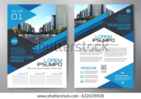 flyer design leaflets a4 template cover book and magazine annual