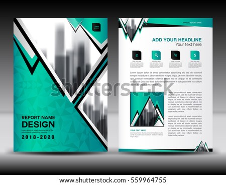 Business Brochure Flyer Template A4 Size Stock Vector 559964755 ...