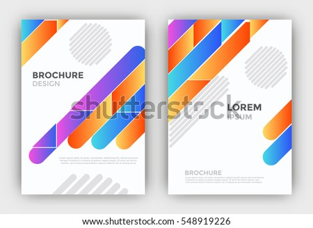 Business brochure, leaflet, flyer, or cover template - Colorful abstract background with diagonal lines