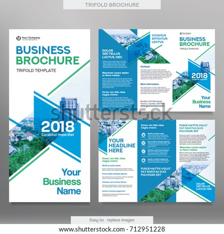 Business Brochure Template Tri Fold Layout Stock Vector - Brochure trifold template