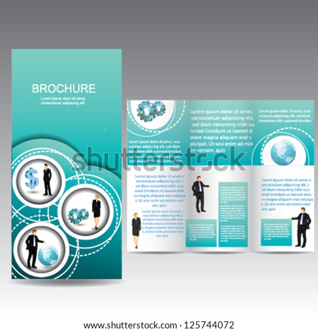 Business Brochure with icon - stock vector