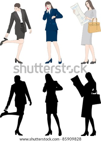 Business / Businesswoman - stock vector