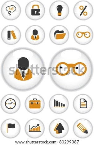 business buttons, vector - stock vector