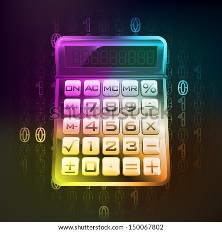 business calculation in binary internet modern space vector illustration
