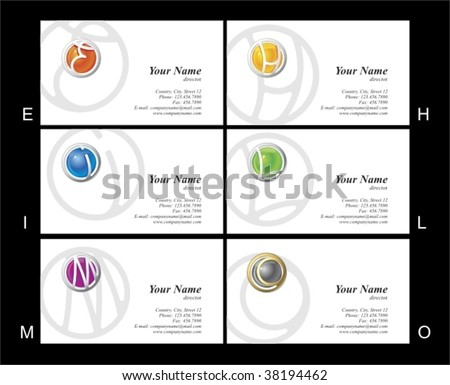 business card - stock vector