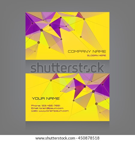 business card abstract background triangular abstract stock vector