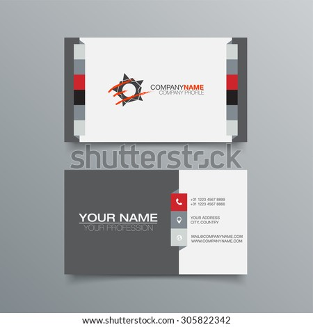 Business Card Background Design Template. Stock Vector Illustration