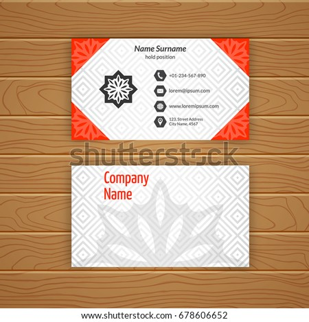 Business card blank template textured background stock vector business card blank template with textured background from diamond tiles minimal elegant vector design accmission Choice Image