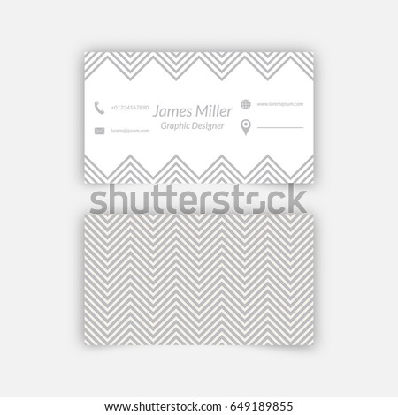 Business card blank template textured background stock vector hd business card blank template with textured background from zigzag strips minimal elegant vector design flashek Image collections