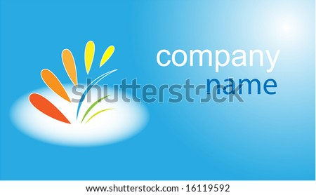 Business card. Blue set. Simply change. Other business cards you can see in my portfolio. - stock vector