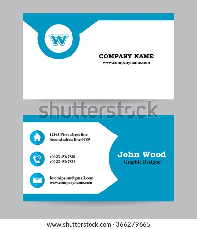 Business Card Business Card Template Business Stock Vector - Template of business card