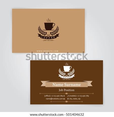 Business card coffee template coffee shop stock vector hd royalty business card coffee template for coffee shop wajeb Gallery
