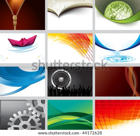 Business card collection - stock vector