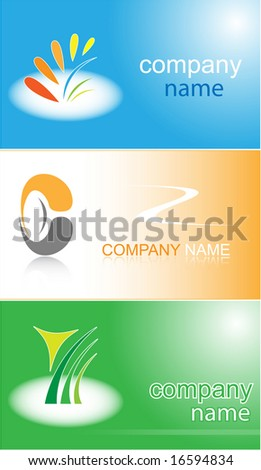 Business card. Color set. Simply change. Other business cards you can see in my portfolio. - stock vector